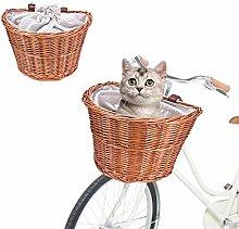 Alacritua Basket For Bikes,Wicker Bicycle