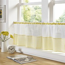 Alan Symonds - Gingham Ready Made Slot Top Voile