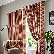 Alan Symonds Jacquard Curtains Eyelet Ring Top