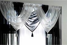 Alan Symonds Plain Voile Curtain Swag Panel White