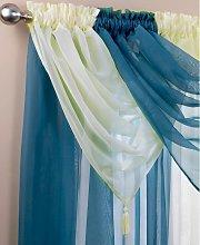 Alan Symonds - Plain Voile Curtain Swag with