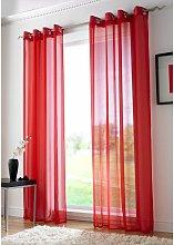 Alan Symonds - Red Eyelet Ring Top Voile Curtain