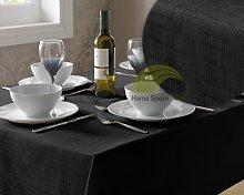Alan Symonds - Tablecloth Black Linen Dining Table
