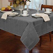 Alan Symonds Tablecloths Gingham Tablecloth Black