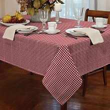 Alan Symonds Tablecloths Gingham Tablecloth Red 60