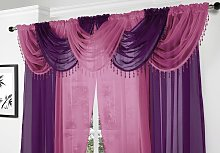 Alan Symonds Voile Curtain Swag Beaded Crystals