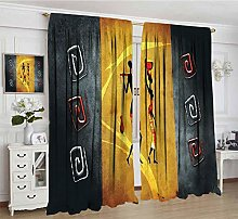 Alandana African Decor Room Darking Curtains,