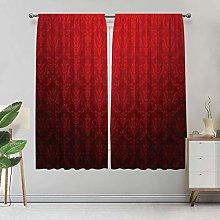 Alandana Dark Red Blackout Curtains, Antique