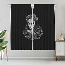 Alandana Day of the Dead Blackout Curtains, Gothic