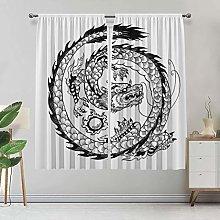 Alandana Dragon Curtains, Exotic Japanese Swirled