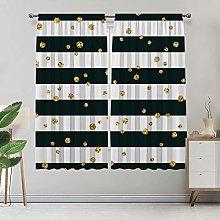 Alandana Gold and White Curtains, Horizontal Bold