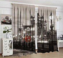 Alandana House Decor Lihgtproof Curtains, London