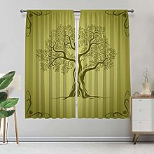 Alandana Olive Green Blackout Curtains,