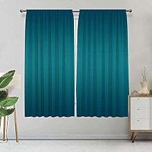 Alandana Ombre Curtains, Teal Colored Pattern