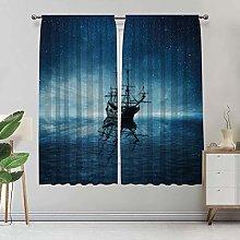 Alandana Pirate Ship Room Darking Curtains, Ship