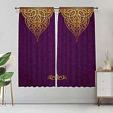 Alandana Purple Curtains, Royal Palace Patterns
