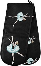 ALARGE Double Gloves Mitts Beautiful Ballet Dancer