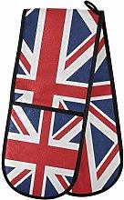 ALARGE Double Gloves Mitts British Union Jack Flag