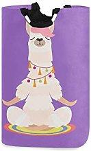 ALARGE Laundry Basket Funny Yoga Animal Alpaca