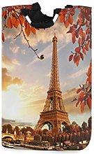 ALARGE Laundry Basket Paris Eiffel Tower Autumn