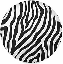 ALARGE Round Placemat,Tribal Abstract Zebra