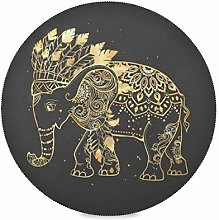 ALARGE Round Placemat,Tribal Ethnic Indian Animal