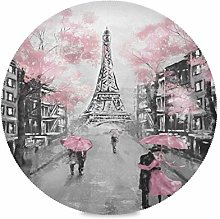 ALARGE Round Placemat,Valentine Watercolor Paris