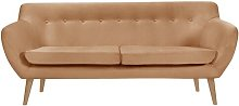 Alaric 3 Seater Sofa Isabelline Upholstery Colour: