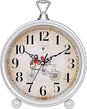 Alarm Clock 10 Inch Super Silent Non Ticking Small