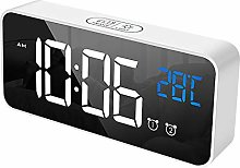 Alarm clock Alarms With Snooze Function LED Mirror