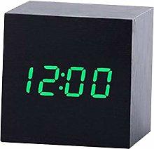 Alarm clock Multicolor Sound Control Wooden Wood