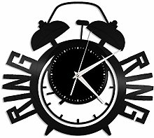 Alarm clock vinyl wall clock, vinyl record home