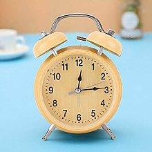 Alarm Clock, Wind-Up with Night Light Mute Retro