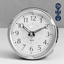 Alarm Clock Wm Widdop Finish: Silver