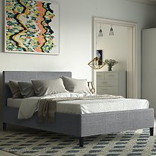 Alauda Upholstered Bed Frame Wrought Studio