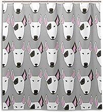 ALAZA Bull Terrier Dog Shower Curtain 72 x 72 Inch