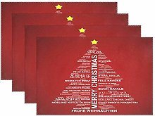 ALAZA Christmas Decoration Placemats Set of 4,