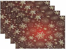 ALAZA Christmas Decoration Placemats Set of 6, Red