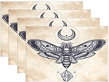 ALAZA Death's Head Hawk Moth With Moons And