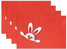 ALAZA Easter Table Decorations Placemats Set of 6,