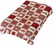 ALAZA Fabric Tablecloth, Christmas Element Pattern