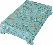 ALAZA Fabric Tablecloth, Colorful Hummingbirds And