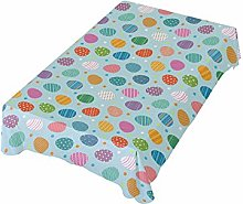 ALAZA Fabric Tablecloth, Multicolored Easter Eggs