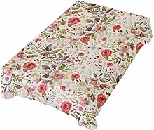 ALAZA Fabric Tablecloth, Vintage Flower Floral