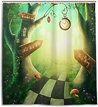 ALAZA Fairytale Tree Wonderland Shower Curtain 72
