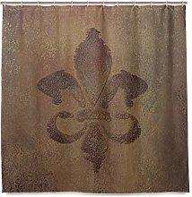 ALAZA Fleur De Lis Grunge Pattern Shower Curtain