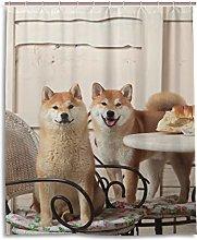 ALAZA Funny Shiba Inu Dog Shower Curtain 60 x 72