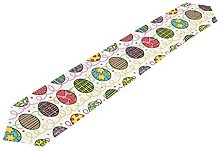 ALAZA My Daily Colorful Easter Eggs Table Runner