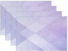 ALAZA Placemats Set of 6, Abstract Purple