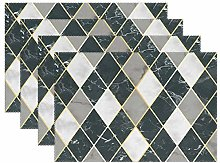 ALAZA Placemats Set of 6, Geometric Marbling